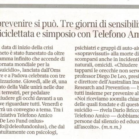 Corriere Veneto - 8 Settembre 2015