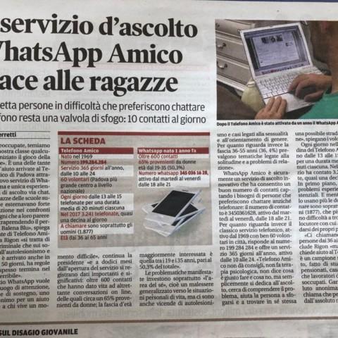 """da """"il Mattino di PAdova"""" 22/05/2018"""